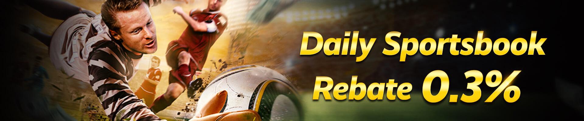 0.3% Daily Sportsbook Rebate