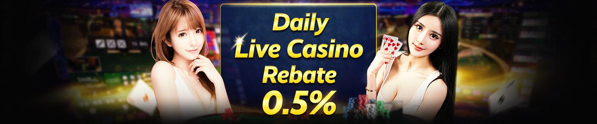 0.5% Daily Live Casino Rebate