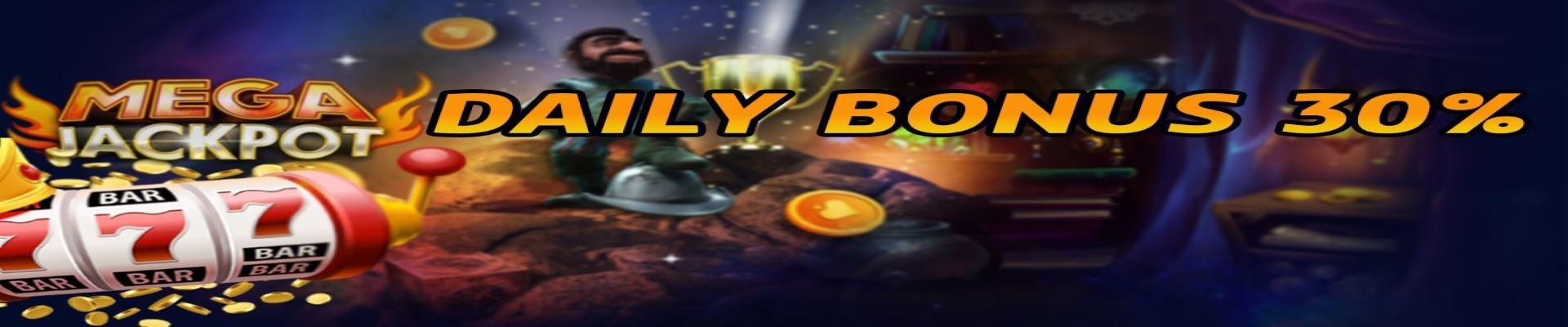 30% Daily Reload Bonus